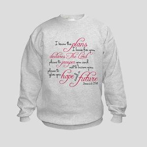 Jeremiah 29:11 Design Kids Sweatshirt