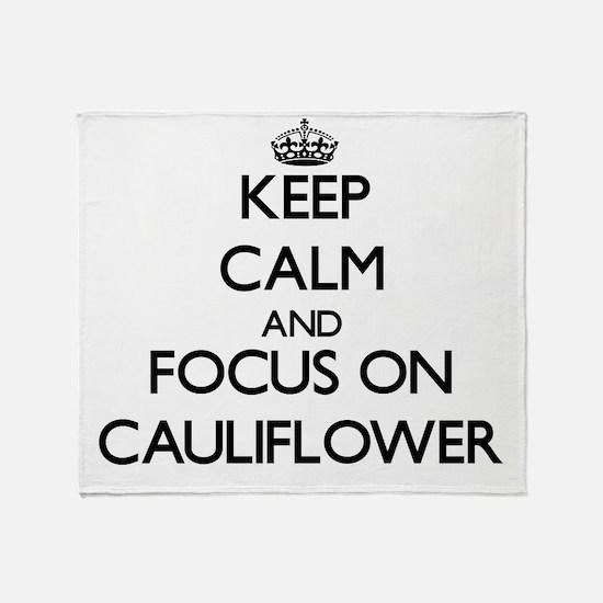 Cute Cauliflower Throw Blanket