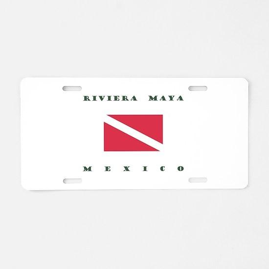 Riviera Maya Mexico Dive Aluminum License Plate