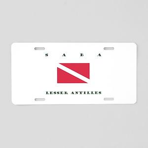 Saba Lesser Antilles Dive Aluminum License Plate