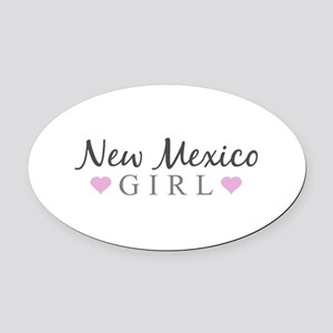 New Mexico Girl Oval Car Magnet