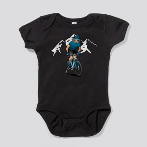MTB - Mountain biker in the mountains Body Suit