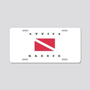 Attica Greece Dive Aluminum License Plate