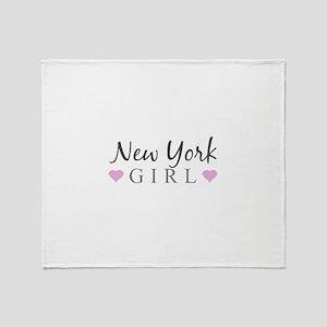 New York Girl Throw Blanket