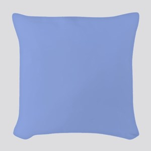 Solid Periwinkle Blue Woven Throw Pillow