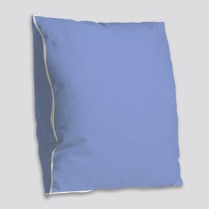 Solid Periwinkle Blue Burlap Throw Pillow