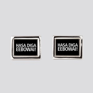 48 HR SALE! Hasa Diga Eebowa Rectangular Cufflinks