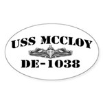 USS McCLOY Sticker (Oval)