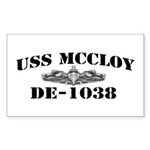 USS McCLOY Sticker (Rectangle)