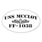 USS McCLOY Sticker (Oval)