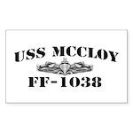 USS McCLOY Sticker (Rectangle)
