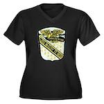 USS McCLOY Women's Plus Size V-Neck Dark T-Shirt