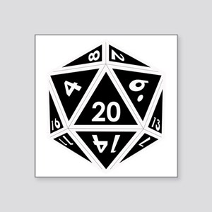 D20 black center Sticker