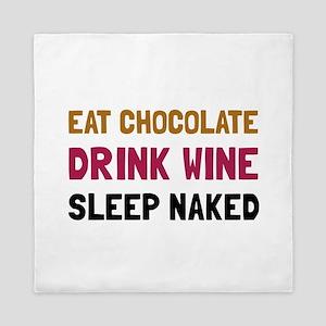 Chocolate Wine Naked Queen Duvet