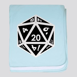D20 black center baby blanket