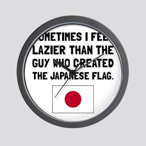 Lazier Japanese Flag Wall Clock