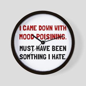 Mood Poisoning Wall Clock