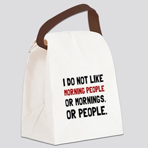 Morning People Canvas Lunch Bag