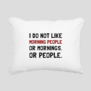 Morning People Rectangular Canvas Pillow