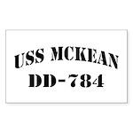 USS McKEAN Sticker (Rectangle)