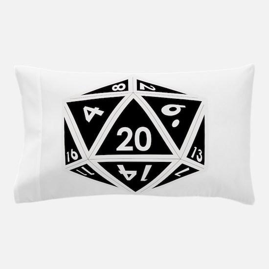 D20 black center Pillow Case
