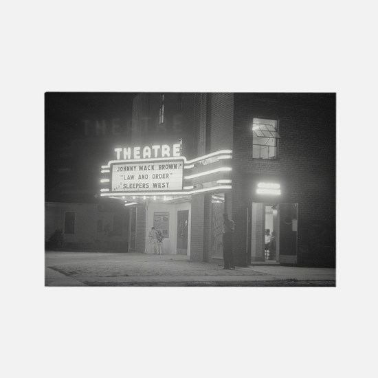 Movie Theater at Night, 1941 Magnets