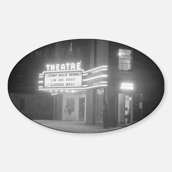 Movie Theater at Night, 1941 Decal