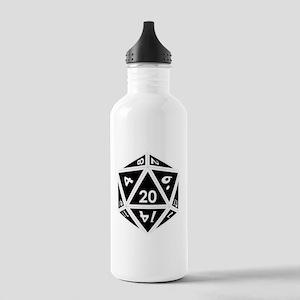 D20 black center Stainless Water Bottle 1.0L