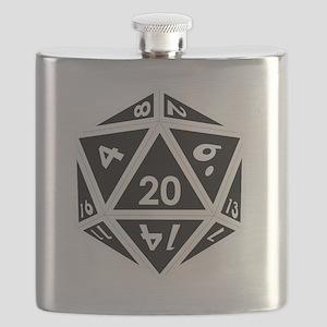 D20 black center Flask
