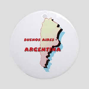 Argentina Map Ornament (Round)