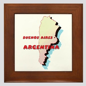 Argentina Map Framed Tile