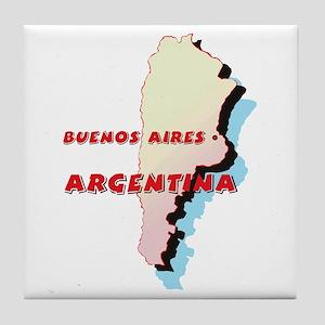 Argentina Map Tile Coaster