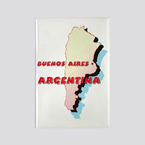 Argentina Map Rectangle Magnet