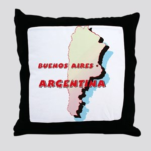 Argentina Map Throw Pillow