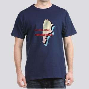 Argentina Map Dark T-Shirt