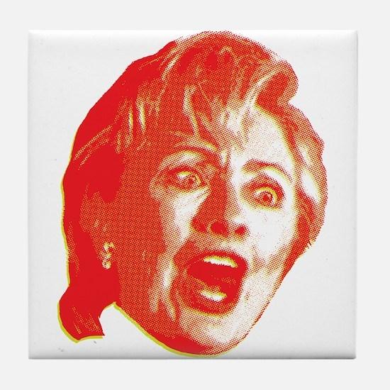 Hillary Rage Tile Coaster