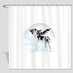 Harlequin Great Dane Angel RB Shower Curtain
