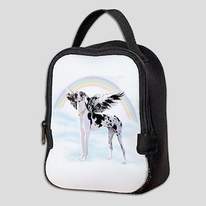 Harlequin Great Dane Angel RB Neoprene Lunch Bag