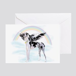 Harlequin Great Dane Angel RB Greeting Card