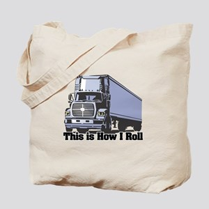 How I Roll (Tractor Trailer) Tote Bag
