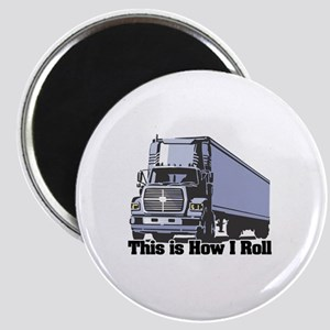 How I Roll (Tractor Trailer) Magnet