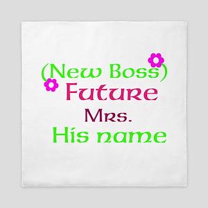 Personalize New Boss Queen Duvet