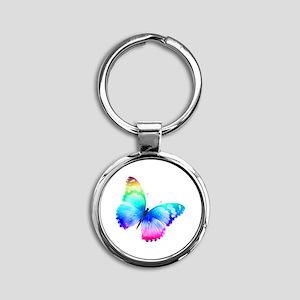 Butterfly Round Keychain