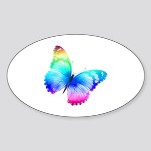 Butterfly Sticker (Oval)