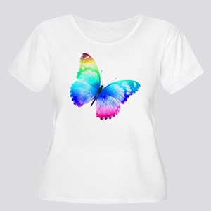 Butterfly Women's Plus Size Scoop Neck T-Shirt