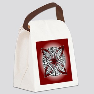 Red Celtic Knot Doodle Canvas Lunch Bag