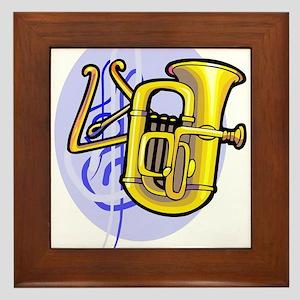 Tuba / Harp Instrument Framed Tile