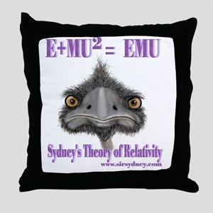 Max the Emu in Sydney's Theory of Rel Throw Pillow
