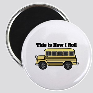 How I Roll (Short Yellow School Bus) Magnet