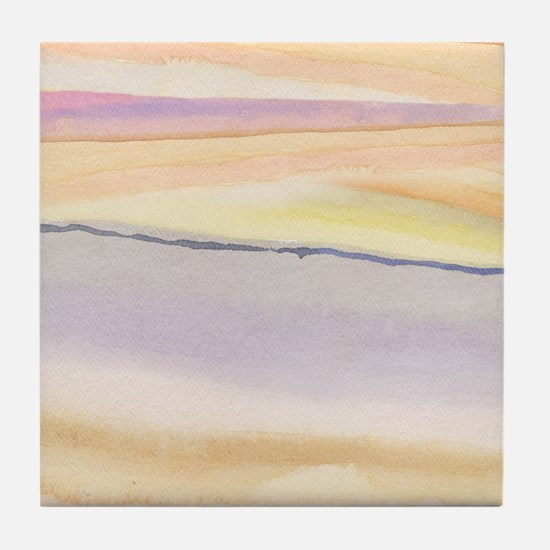 soft lavender abstract Tile Coaster